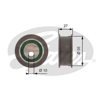 GATES Tensioner Pulley: T42042A