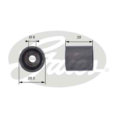 GATES Tensioner Pulley: T42044