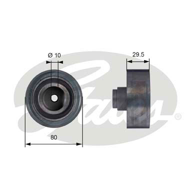 GATES Tensioner Pulley: T42050