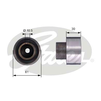 GATES Tensioner Pulley: T42053