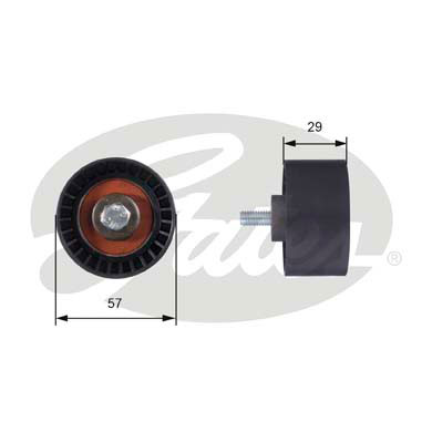 GATES Tensioner Pulley: T42060