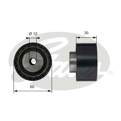 GATES Tensioner Pulley: T42070