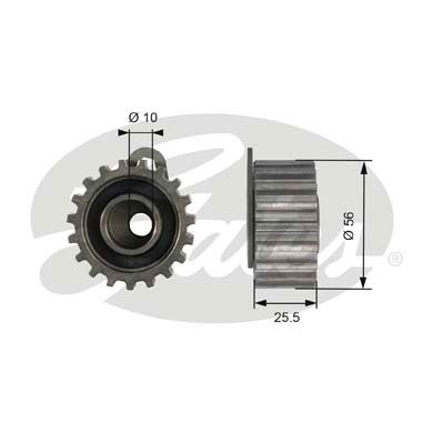 GATES Tensioner Pulley: T42073