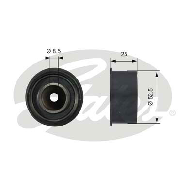 GATES Tensioner Pulley: T42076