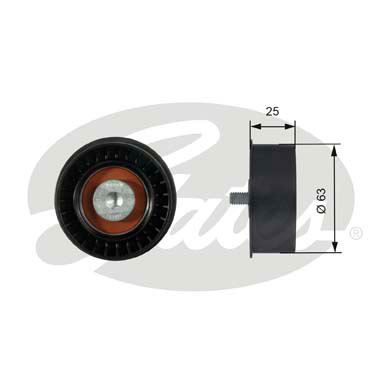 GATES Tensioner Pulley: T42077