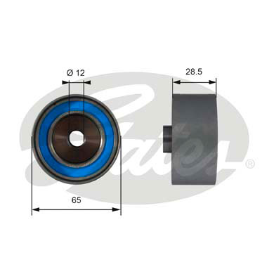 GATES Tensioner Pulley: T42081