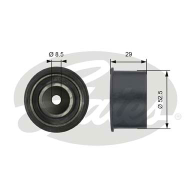GATES Tensioner Pulley: T42084
