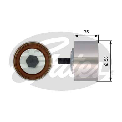 GATES Tensioner Pulley: T42121