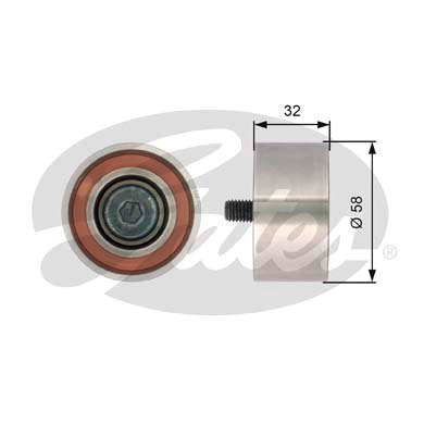 GATES Tensioner Pulley: T42141