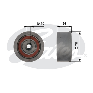 GATES Tensioner Pulley: T42159