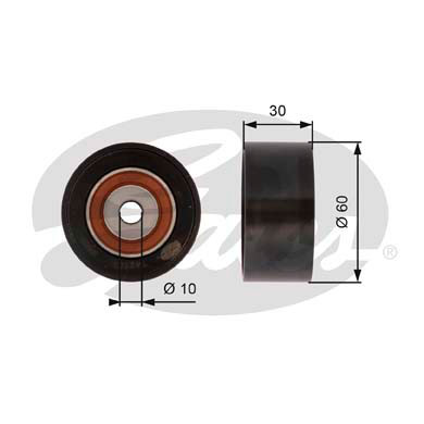 GATES Tensioner Pulley: T42162