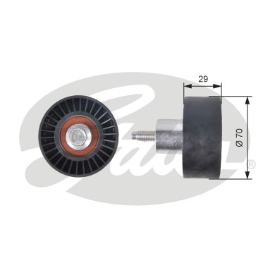 GATES Tensioner Pulley: T42164