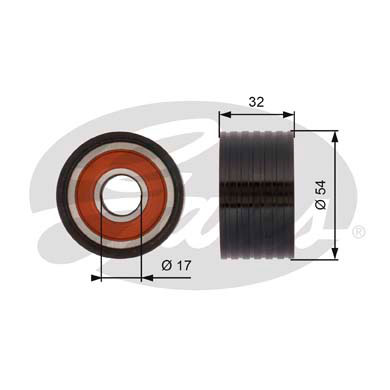 GATES Tensioner Pulley: T42166