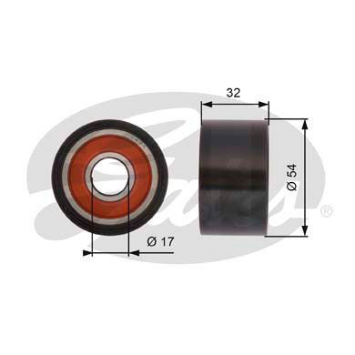GATES Tensioner Pulley: T42167