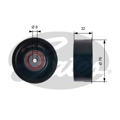 GATES Tensioner Pulley: T42169