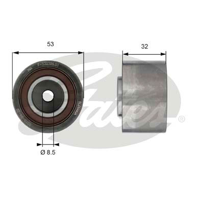 GATES Tensioner Pulley: T42179