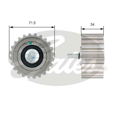 GATES Tensioner Pulley: T42183