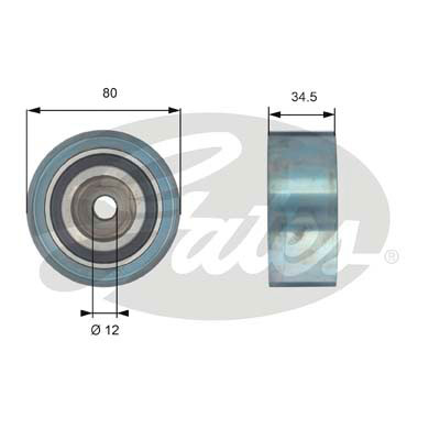 GATES Tensioner Pulley: T42193