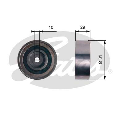 GATES Tensioner Pulley: T42305
