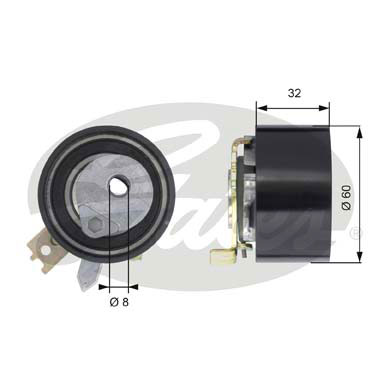 GATES Tensioner Pulley: T43014
