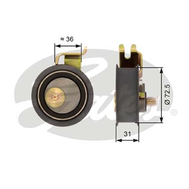 GATES Tensioner Pulley: T43016
