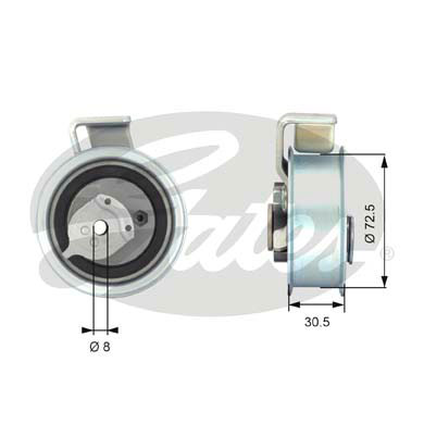 GATES Tensioner Pulley: T43018