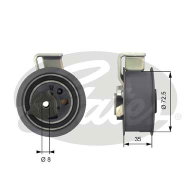 GATES Tensioner Pulley: T43019