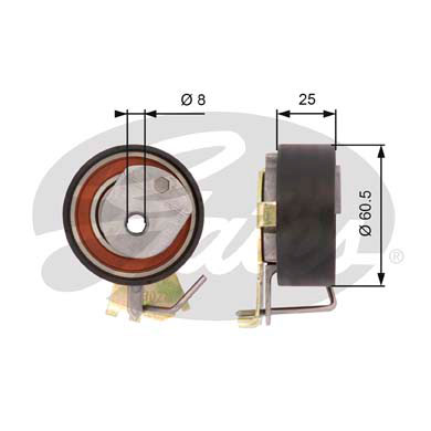 GATES Tensioner Pulley: T43023