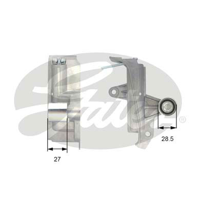 GATES Tensioner Pulley: T43028