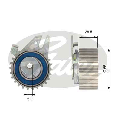 GATES Tensioner Pulley: T43033