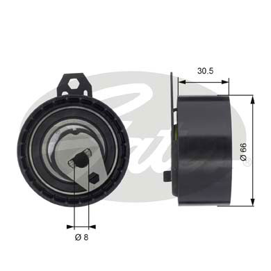 GATES Tensioner Pulley: T43034