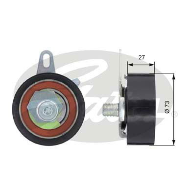 GATES Tensioner Pulley: T43036