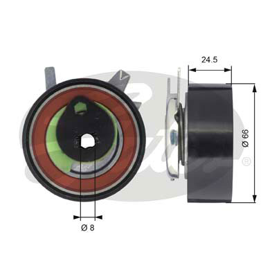 GATES Tensioner Pulley: T43048