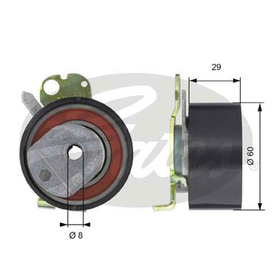 GATES Tensioner Pulley: T43050