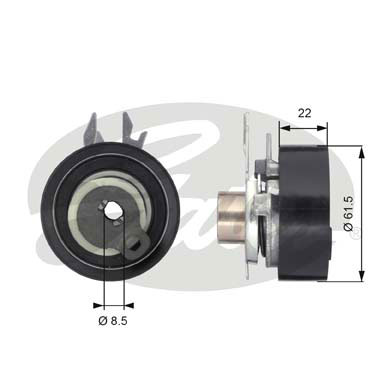 GATES Tensioner Pulley: T43061