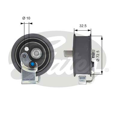 GATES Tensioner Pulley: T43065