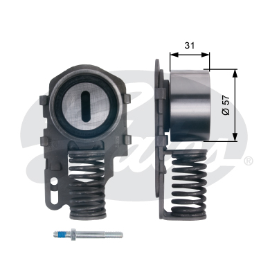GATES Tensioner Pulley: T43082