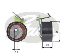 GATES Tensioner Pulley: T43088