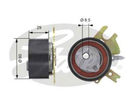 GATES Tensioner Pulley: T43089