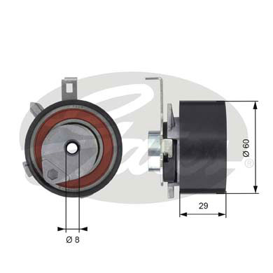 GATES Tensioner Pulley: T43115