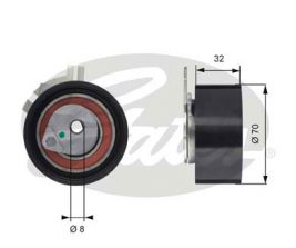 GATES Tensioner Pulley: T43117