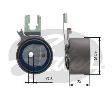 GATES Tensioner Pulley: T43119