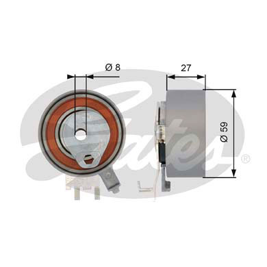 GATES Tensioner Pulley: T43139