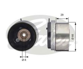 GATES Tensioner Pulley: T43143