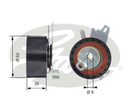 GATES Tensioner Pulley: T43145
