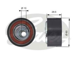GATES Tensioner Pulley: T43147