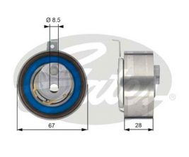 GATES Tensioner Pulley: T43152