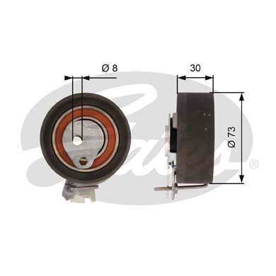 GATES Tensioner Pulley: T43157