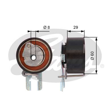 GATES Tensioner Pulley: T43158