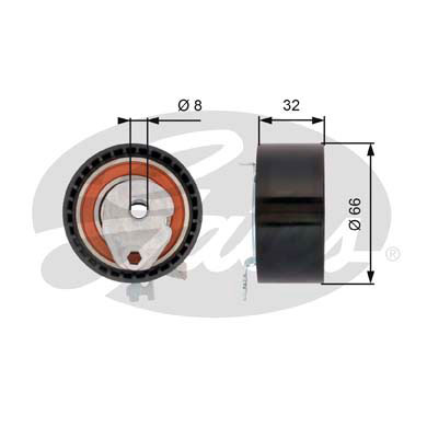 GATES Tensioner Pulley: T43168